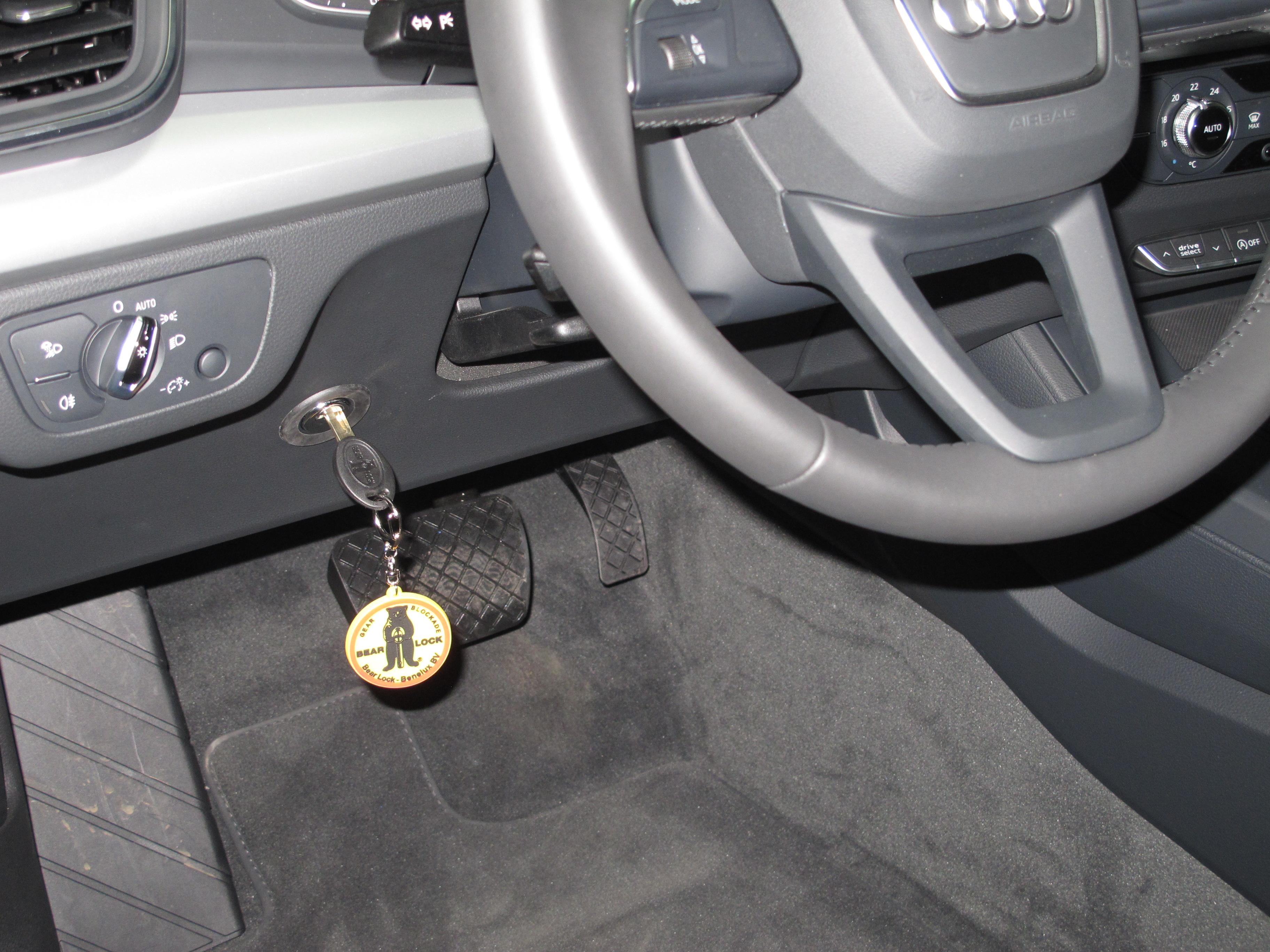 """Нові розробки систем захисту авто від викрадення  """"Bear-Lock"""", жовтень, 2017/замок на руль AUDI Q5 та інші"""